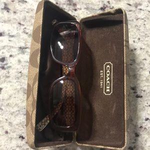 Coach Trista sun glasses with case